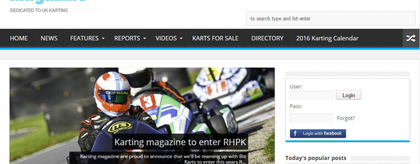 Team Karting Magazine Entering RHPK