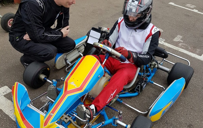Andy Burtons Rotax is also out testing
