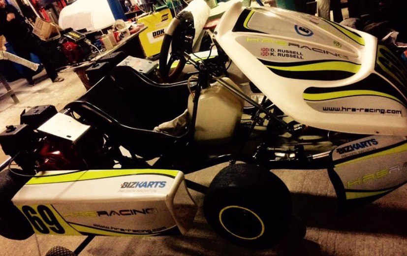 HRS Racing sporting their white livery, one of maybe two karts white this year!