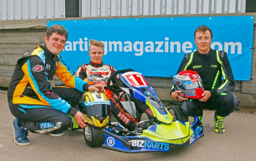 Team Karting Magazine, May line up of - Harry Webb, Bradley Philpot & Lee Henderson