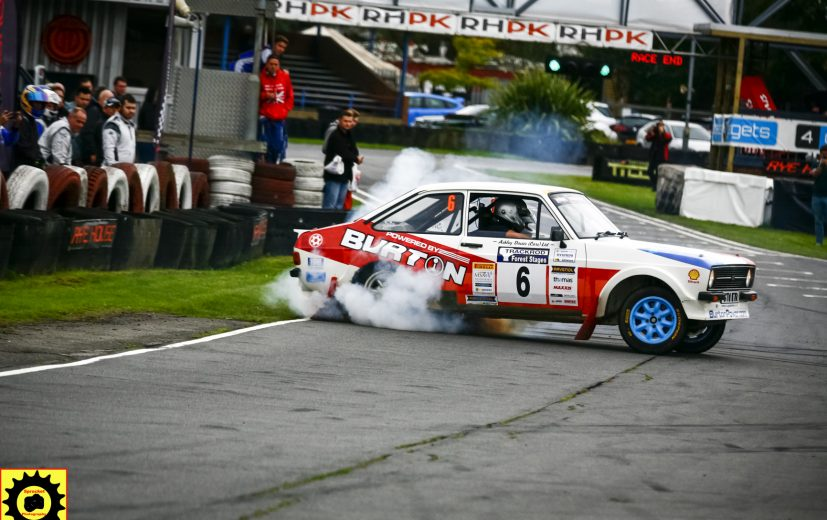 Ashley Davies driving his Burton powered Ford Escort MK2 rally car