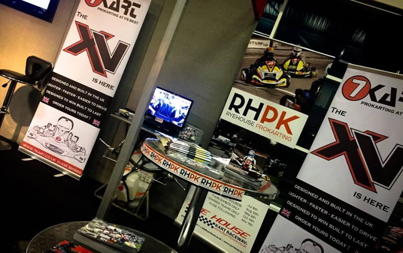 Today the stand was setup and ready for Saturday morning. Come and see us. We are sharing the 7Kart Stand.