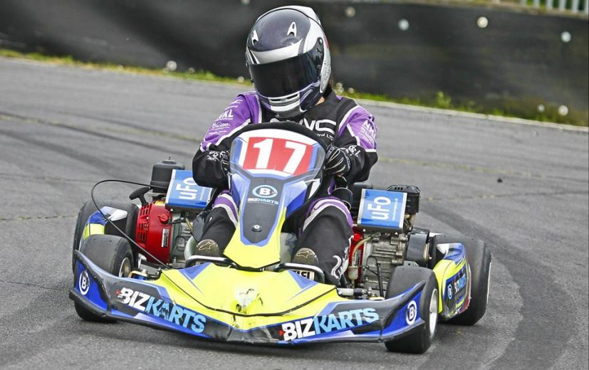 Stephanie driving for Team Karting Magazine in 2016