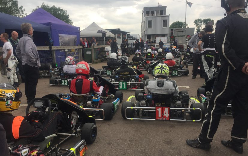Qualifying just about to start as the black clouds form!
