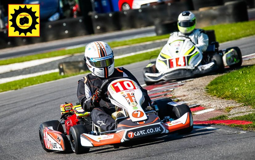Luke driving the new Team Karting Magazine Kart