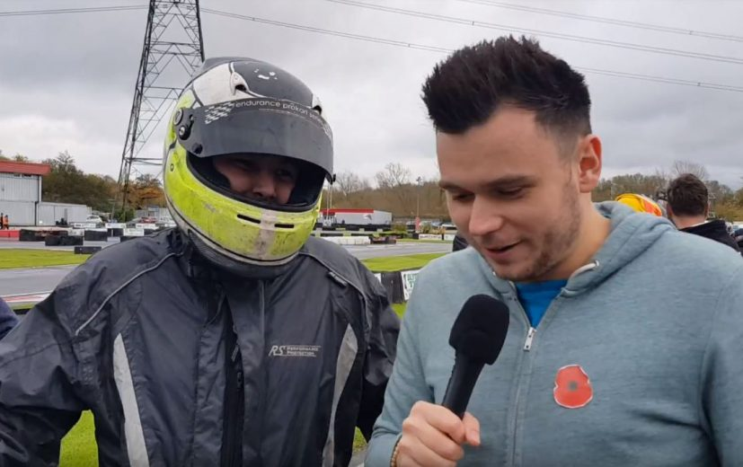 Danny explaining to Chris McCarthy about the recent reliability concerns of HRS Racing back in 2017